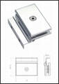Aluminium Glass door hinge 1
