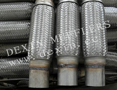 muffler flexible pipe inner braided with welded pipe-car exhaust pipe