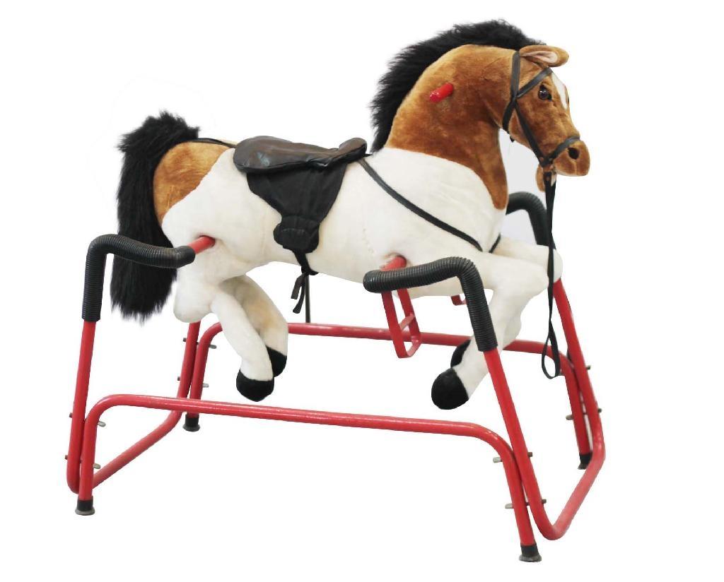Plush spring horse 1