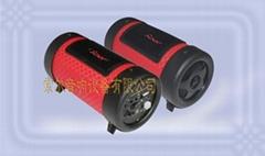4寸红格收音插卡低音炮