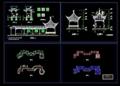 四角亭--游廊施工图