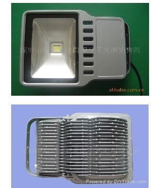 供应100W   LED投光灯灯具 1