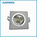 3W Drawn wire Siliver High Brightness led downlight