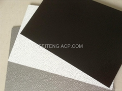 Embossed aluminum composite panel materials