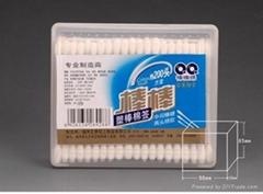 plastic stick cotton swabs