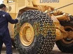铲运机轮胎保护链