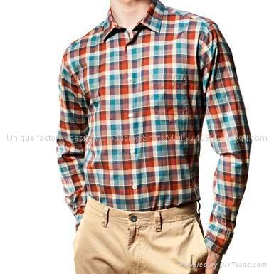 自然美丽的小红格子衬衫 1