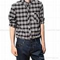 黑色格子长袖衬衫