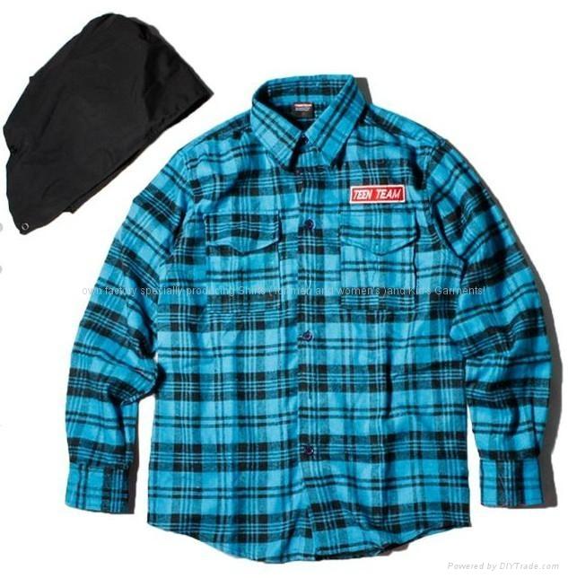 锖色长袖衬衫 1