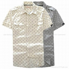 斑点短袖衬衫