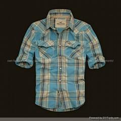 锖色短袖衬衫