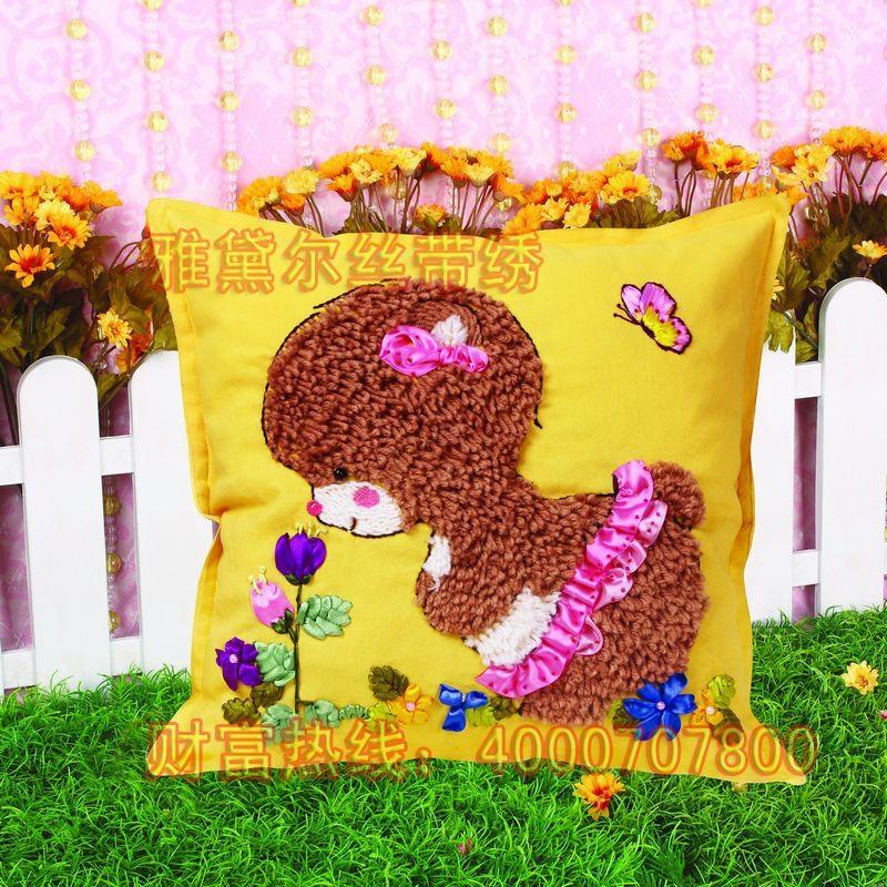雅黛爾絲帶繡抱枕 4