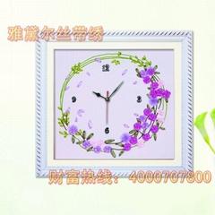 雅黛爾絲帶繡鐘錶