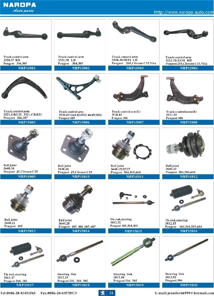 Automobile Parts Product : Peugeot parts naropa china