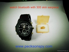 New watch bluetooth with mini wireless earpiece and original battery
