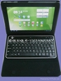 Bluetooth keyboard for Acer Iconia 500 TabPC Folding leather protective case