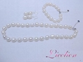Wholesales 10.5-11.5mm multi-colors long potato shape pearl necklace & Pearl bra 4
