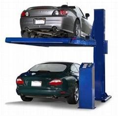 Single post parking lift