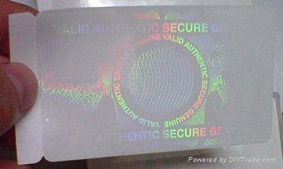 激光透明标签 1