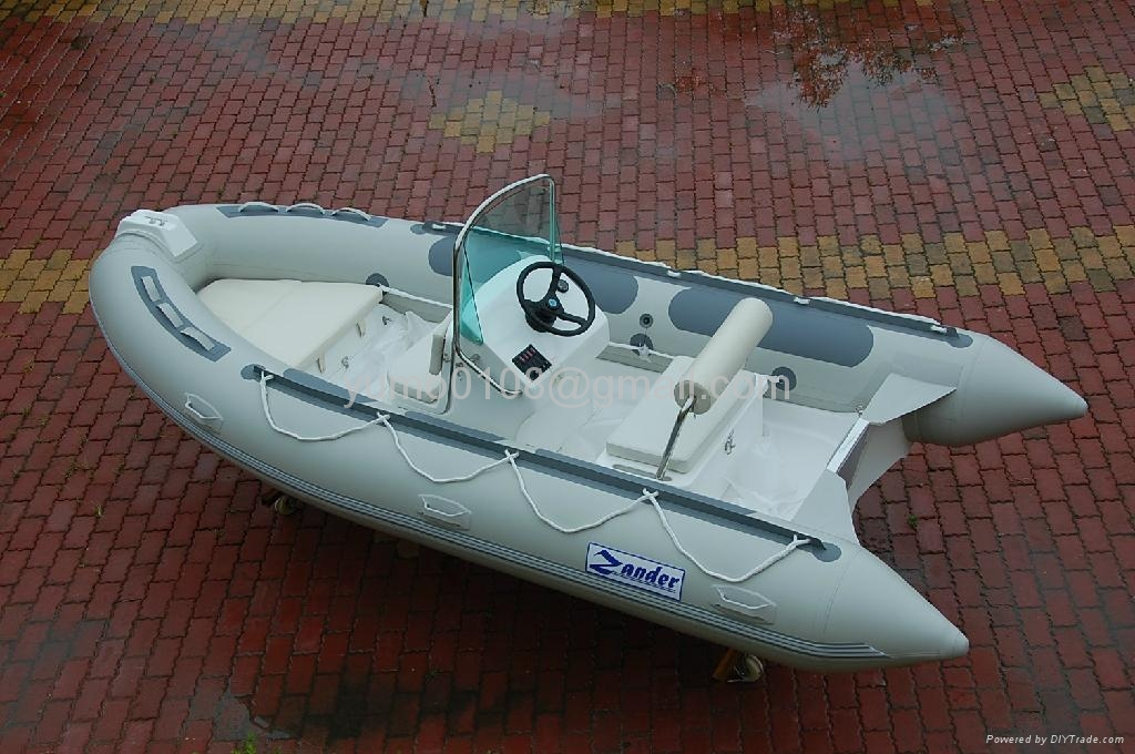 rigid inflatable boat RIB430 boat with step ends 1