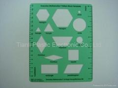 Plastic Teaching Aids - Pattern Block Template and Plastic Ruler