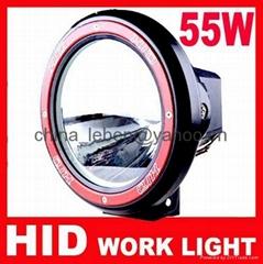 7'' 55W Offroad Light HID Drive Light H3 Slim Ballast Spotlight Hid Work Light