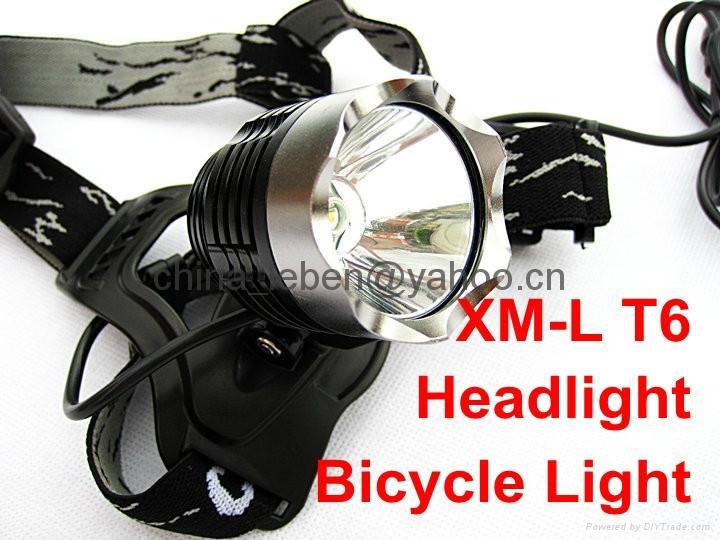 2 in 1 CREE XML XM-L T6 LED Bike Bicycle Light HeadLight HeadLamp 1
