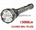 13000 Lumen Super Bright 12x CREE XML T6
