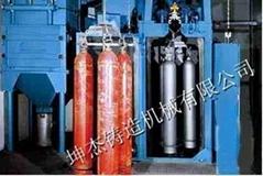 青島拋丸機公司坤杰專業生產鋼瓶拋丸機
