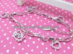 Free Shipping Hello Kitty Bracelet 2011 New style hello kitty charm bracelet, AB