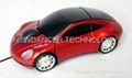 car shape gift wired USB mouse