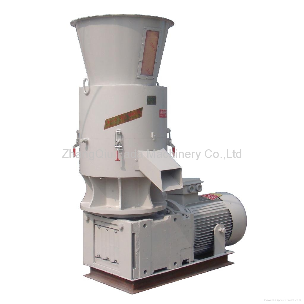 Flat die pellet mill for wood biomass and feed skj