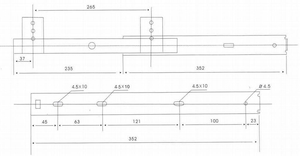 二折高度可調式全展滾珠鍵盤滑軌 3