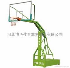 供應移動仿液壓籃球架