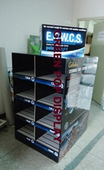POP Cardboard Display with 16 trays in 2 sides suitable for Garments