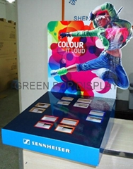 Cardboard Counter Display with 4C Offset Printing