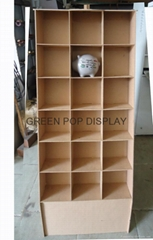 POP Cardboard Display with 15 pockets