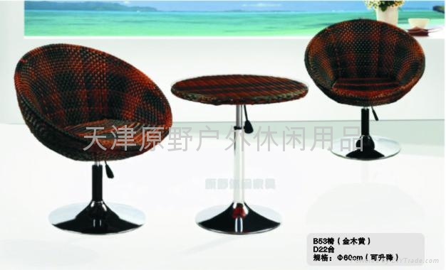藤編桌椅 5