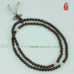lobular red sandalwod prayer beads
