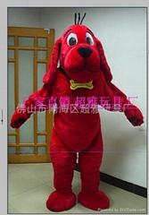 卡通服裝紅狗