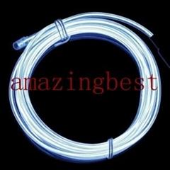 Hign brightness El neon wire hot sale,Diameter3mm