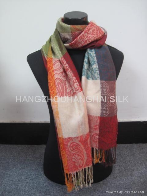 時尚精品提花女士圍巾 1