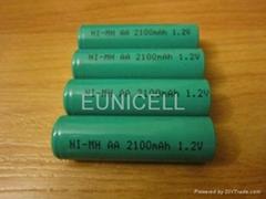 1.2V Ni-MH NiMH AA Rechargable battery 2100mAh