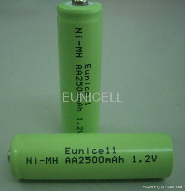 1.2V Ni-MH NiMH AA Rechargable battery 2500mAh 2