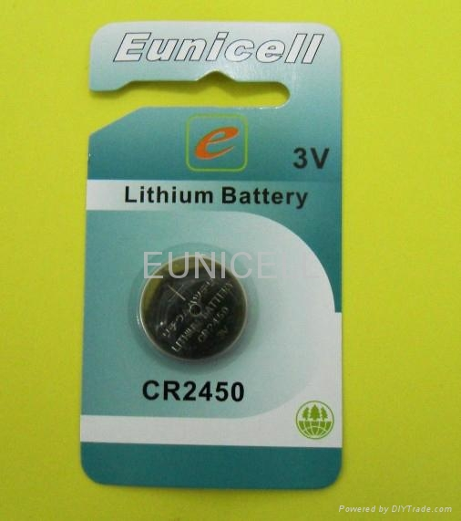 CR2450 3V lithium button cell battery lithium batteries 1