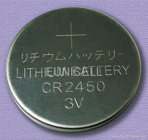 厂家供应CR2450 3V 锂锰扣式电池 3