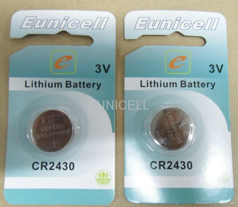 厂家供应CR2450 3V 锂锰扣式电池 5