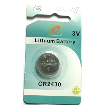 cr2430 3V lithium button cell  1