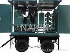 Trailer transformer oil purifier