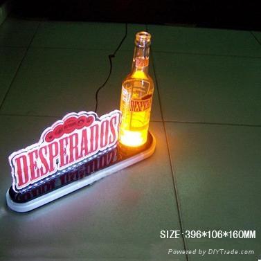 亚克力/有机玻璃LED发光展示牌 标识牌 啤酒座 1